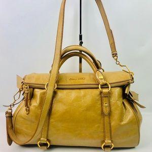 Authentic Miu Miu Brown Soft Leather 2Way Shoulder